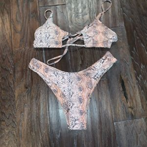 Fashion nova Snake skin bikini swimsuit swim